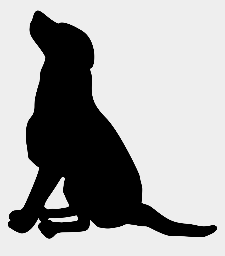pet clipart, Cartoons - Labrador Retriever Pet Sitting Silhouette Puppy - Dog Silhouette Vector Png