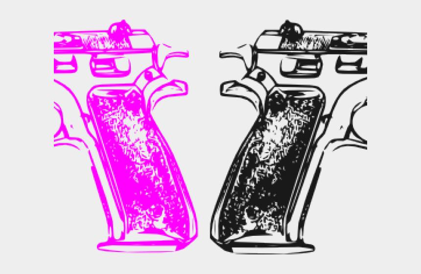 pistol clipart, Cartoons - Pistol Clipart Pink Gun - 9mm Clip Art