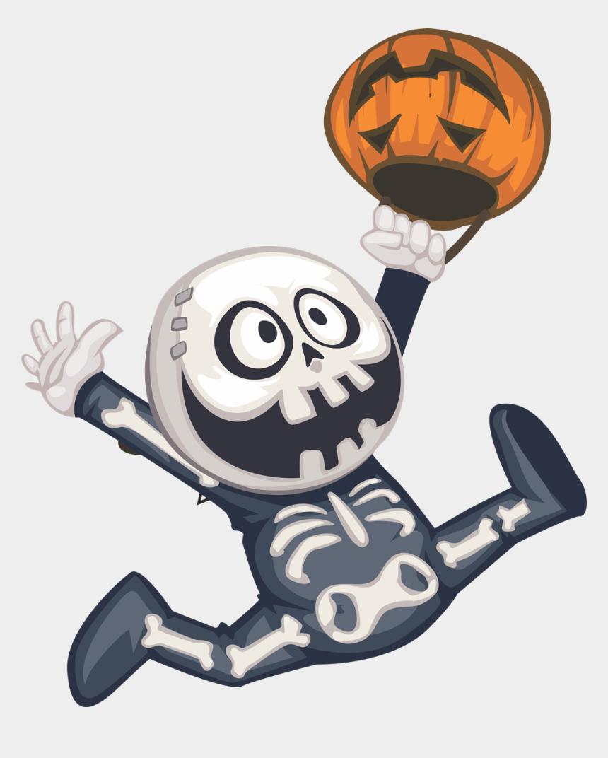 cute halloween clip art, Cartoons - Cute Halloween Monster Clip Art - Skeleton Halloween Clip Art