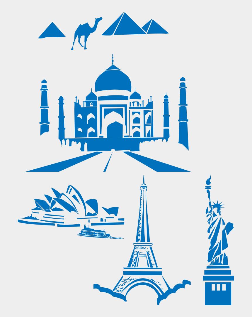statue of liberty clip art, Cartoons - Taj Mahal Eiffel Tower Landmark Statue Of Liberty Computer - Taj Mahal Clipart Png