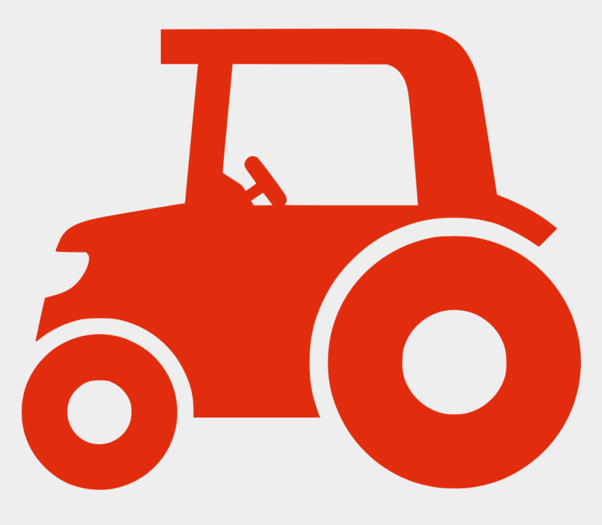 tractor clip art, Cartoons - Red Tractor Icon Png