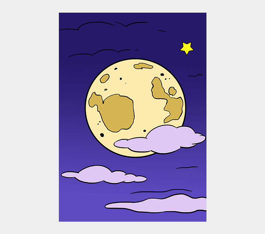 eclipse clipart, Cartoons - How To Draw The Moon Really Easy Drawing Tutorial - Easy How To Draw A Moon Step