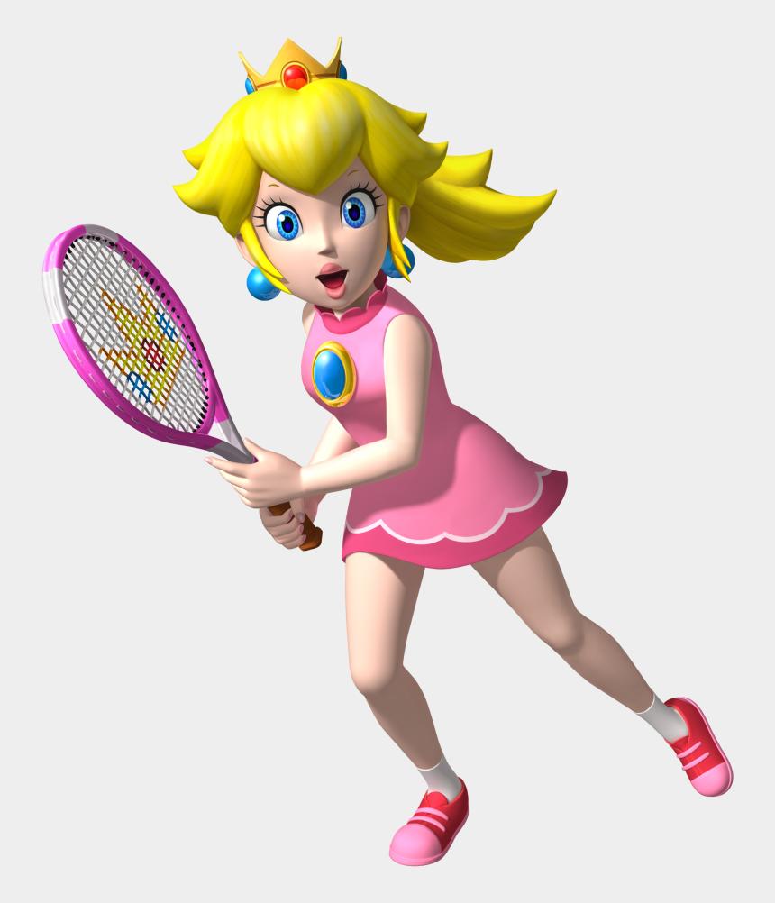 princess peach clipart, Cartoons - Download Princess Peach Transparent Png - Super Mario Tennis Peach