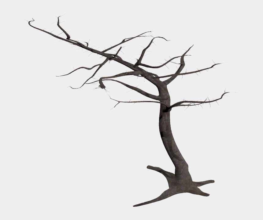 dead trees clipart, Cartoons - Dead Tree In Wind - Dead Tree Transparent Background