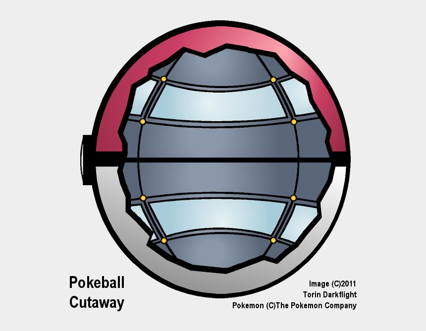 pokeball clipart, Cartoons - Pokeball Cutaway By Torin Darkflight - Circle