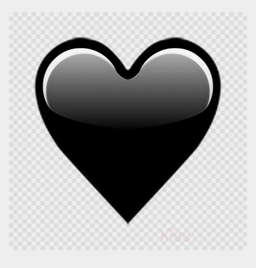 iphone clipart black and white, Cartoons - Black Love Emoji Clipart Emojipedia Heart - Iphone Transparent Heart Emoji Png