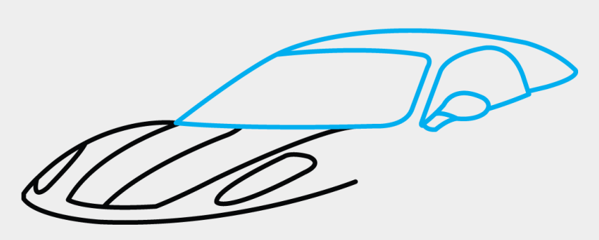 How To Draw Ferrari , Sports Car Drawing Easy, Cliparts