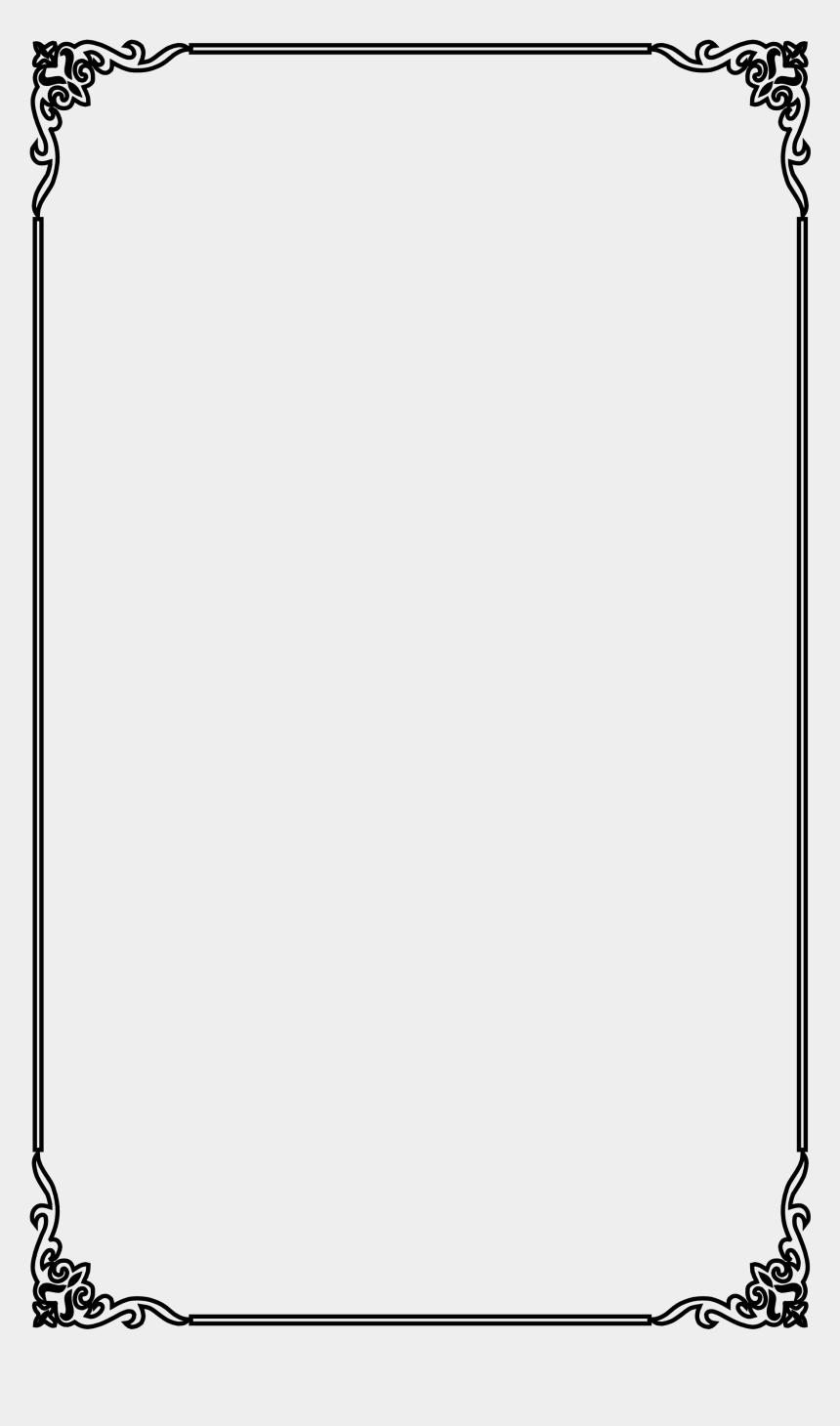 elegant clipart, Cartoons - Picture Vector Frame Material Elegant Computer Black - Fancy Page Borders