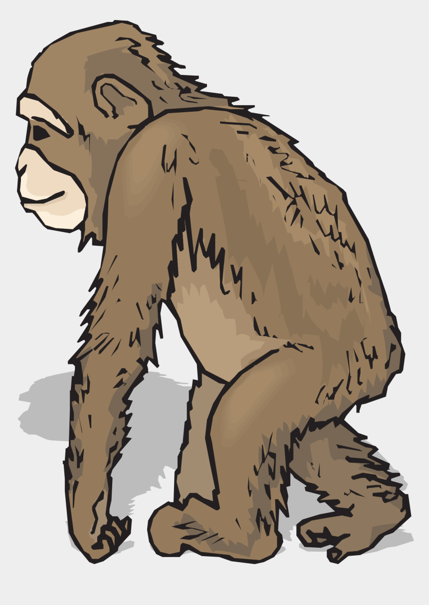 feet walking clipart, Cartoons - Feet Hands Leaning Walking Animal Chimp Fur Hand - Animals With Fur Clipart