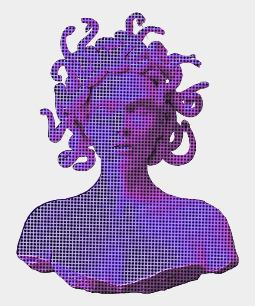 water vapor clipart, Cartoons - Ftestickers Sculpture Vaporwave Aesthetic Holographic - Vaporwave Transparent