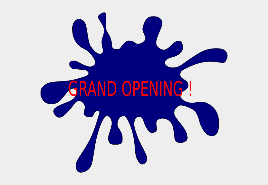 grand opening clipart, Cartoons - Purple Paint Splatter Clip Art