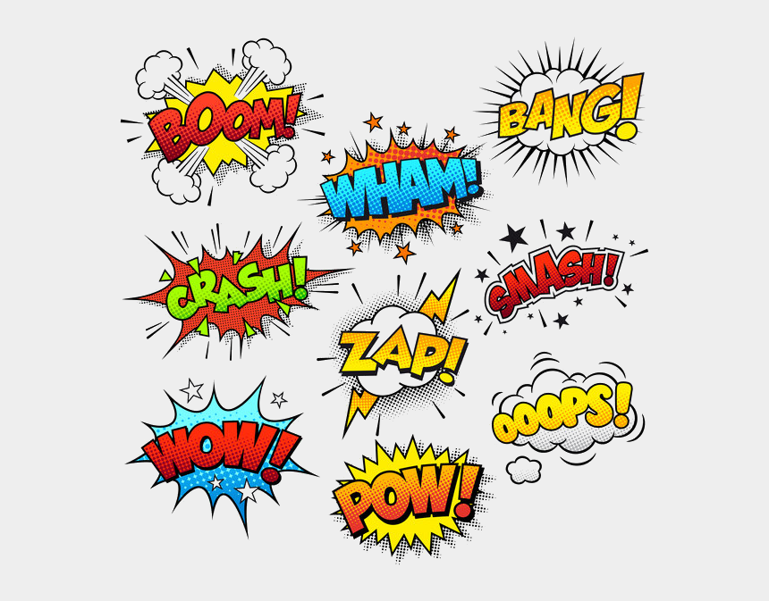comedian clipart, Cartoons - Education Perfect - Sound Effects In Comic Books