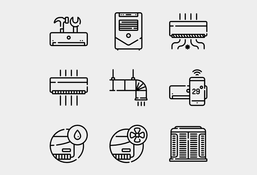 air conditioning clipart, Cartoons - Air Conditioning Icons Free - Air Conditioner Repair Icon