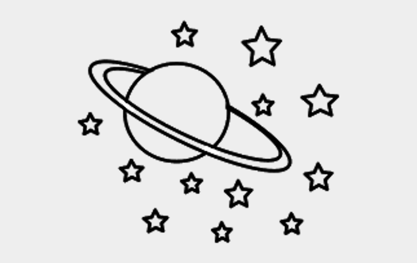 universe clipart, Cartoons - Universe Clipart Black And White - Stars And Planets Drawing