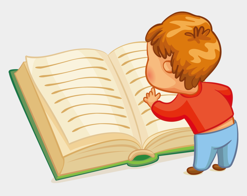 kid reading clipart, Cartoons - Reading Book Clip Children Transprent Ⓒ - Reading Book Cartoon Png