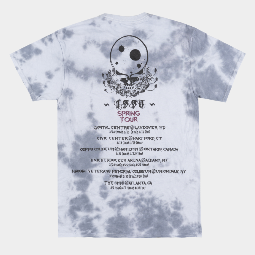 shirt and tie clipart, Cartoons - Grateful Dead Skull Png - Grateful Dead Tour Shirt Back