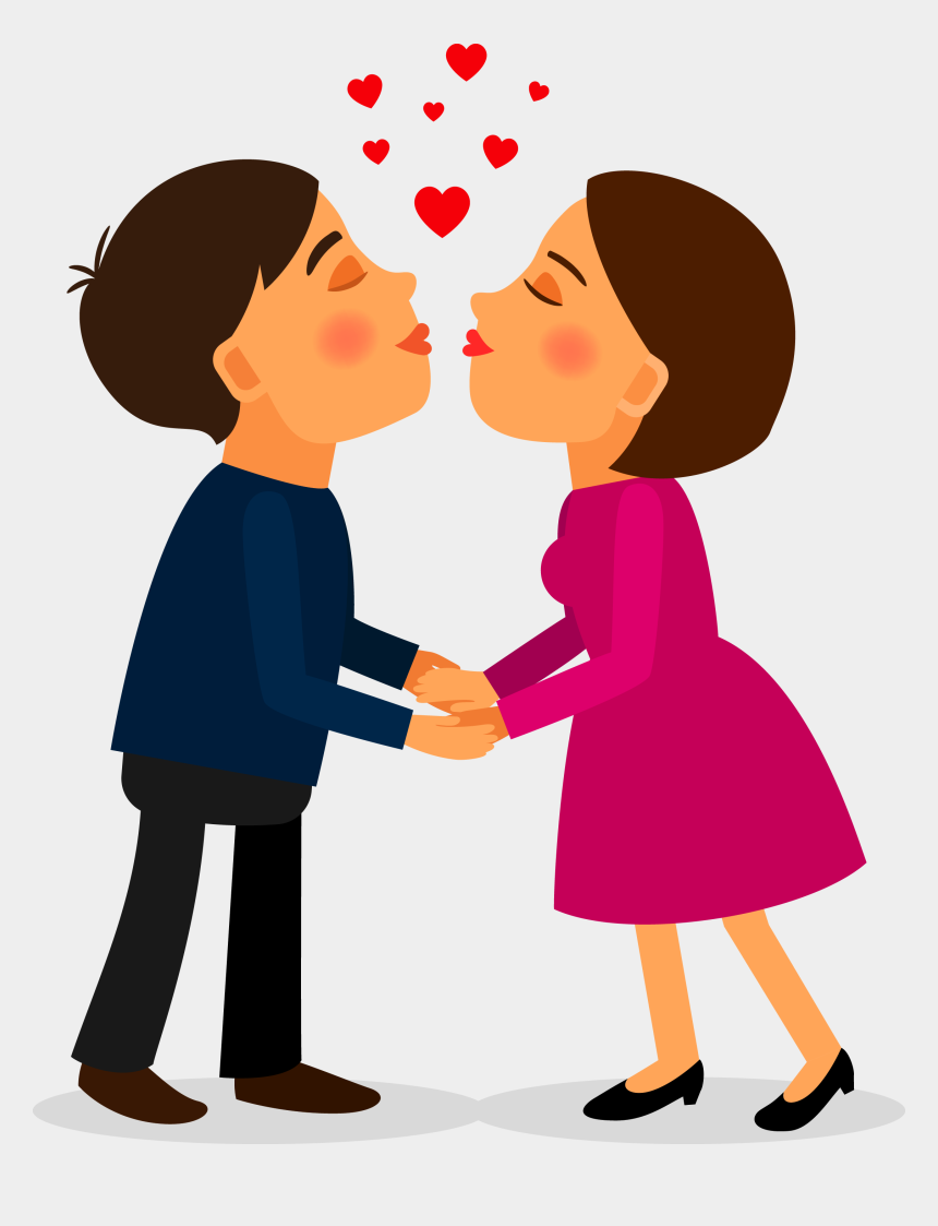 kissing clipart, Cartoons - Couple Kiss Png - Love Happy Promise Day