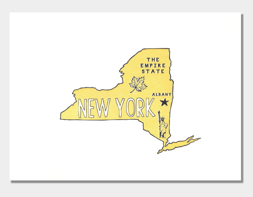 new york state clipart, Cartoons - New York State Print