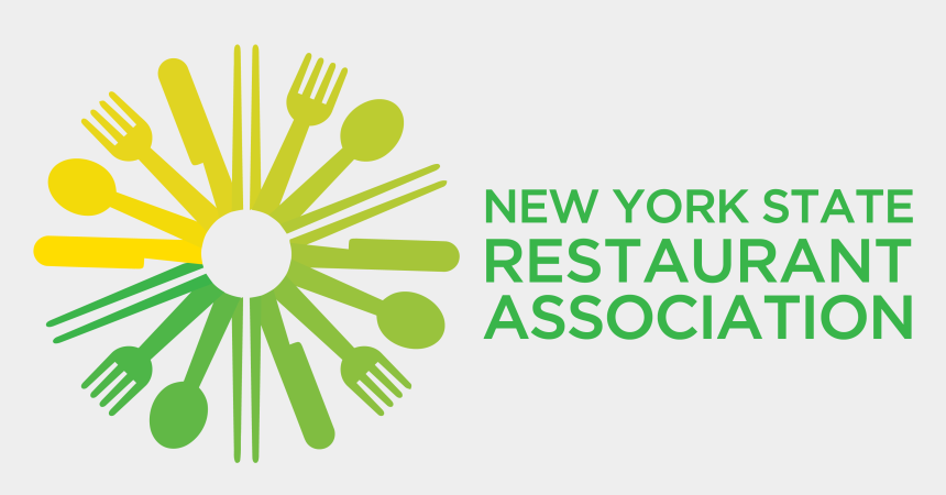 new york state clipart, Cartoons - Host Marco Werman Speaks With A School Teacher At A - New York Restaurant Association Logo