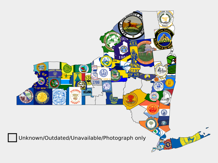 new york state clipart, Cartoons - Ocnew York State Counties Flag Map - Map Of The New York Flag