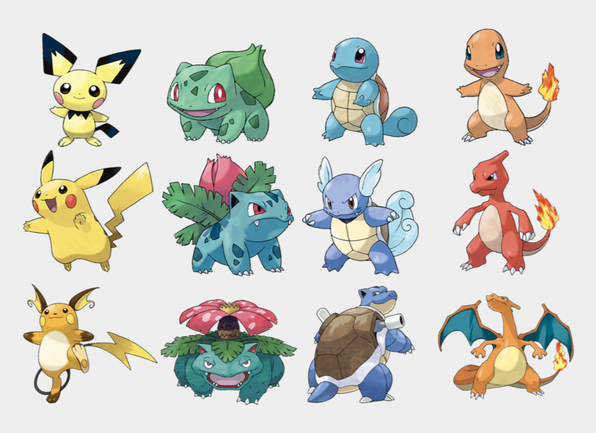 Original Pok Mon Game Starters Bulbasaur Squirtle Figuras