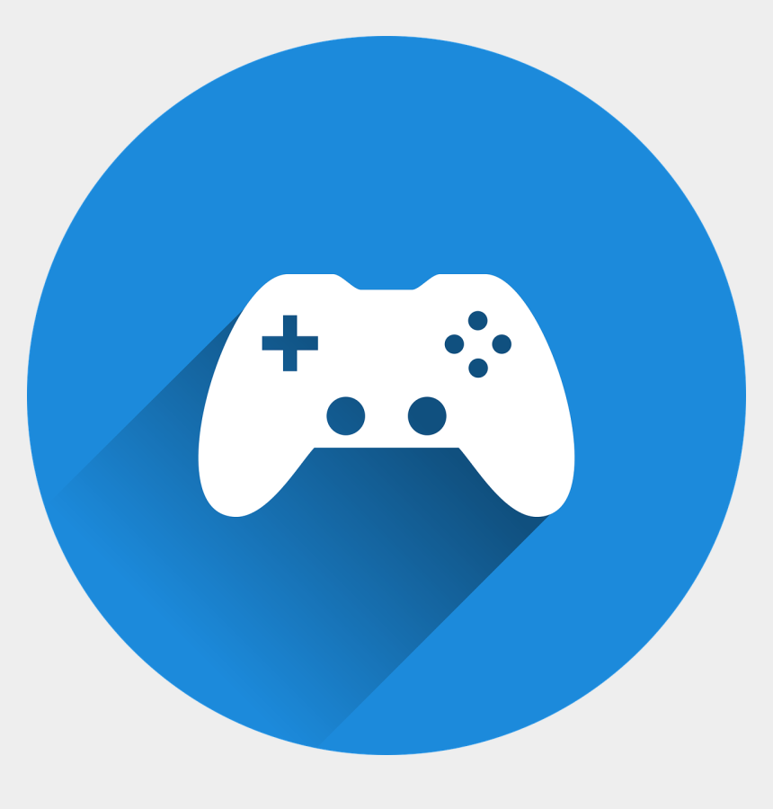 Video Games Have Always Fascinated Humanity Blue Gaming Controller Logo Cliparts Cartoons Jing Fm
