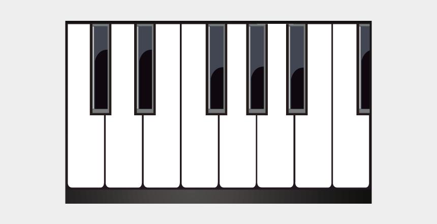 upright piano clipart, Cartoons - Musical Keyboard Piano - Piano Keyboard Vector Png