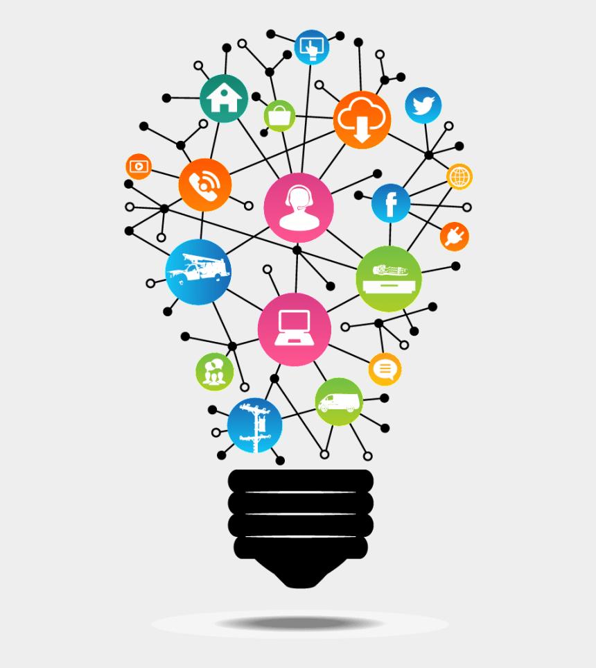 decision making clipart, Cartoons - Call Center Case Management And Big Data - Social Media Bulb Png