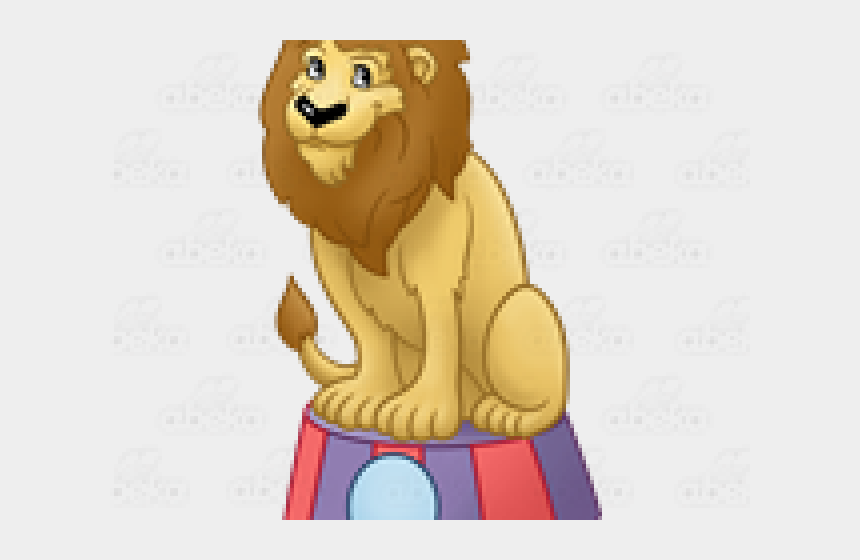 circus animal clipart, Cartoons - Lion Circus On Stand