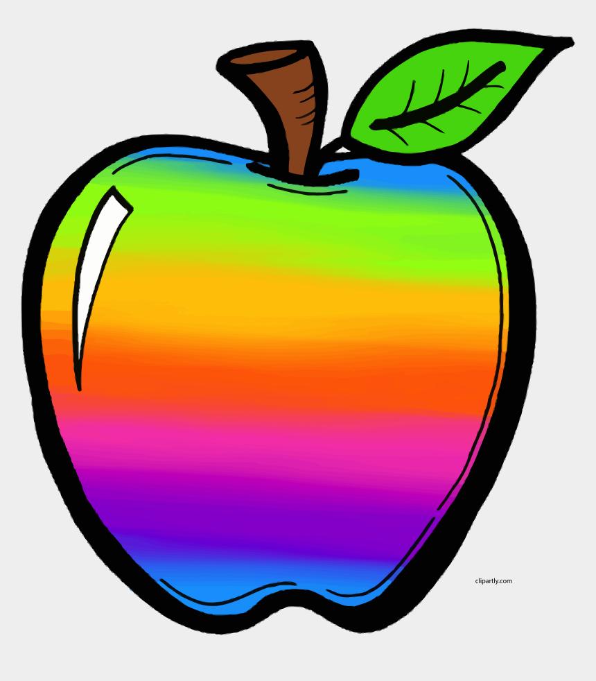 apple border clipart, Cartoons - Colorful Apple Clipart Png - Transparent Background Apple Clipart