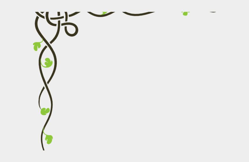 vine plant clipart, Cartoons - Vine Clipart Celtic - Corner Page Border Png