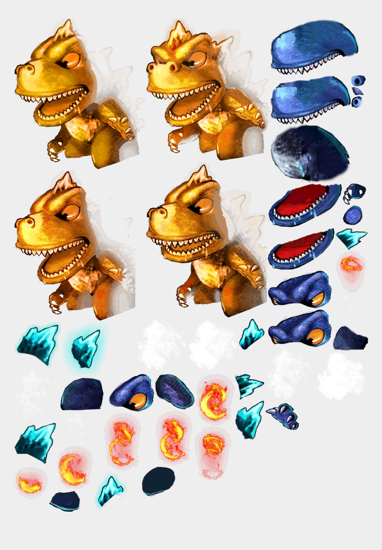 sprite clipart, Cartoons - Godzilla Clipart Sprite - Animal Figure