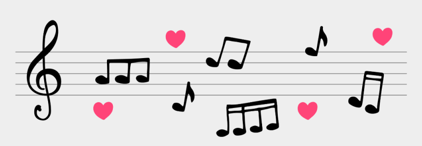 music notes heart clipart, Cartoons - #mq #notes #music #note #heart - Notas Musicales De Amor Png