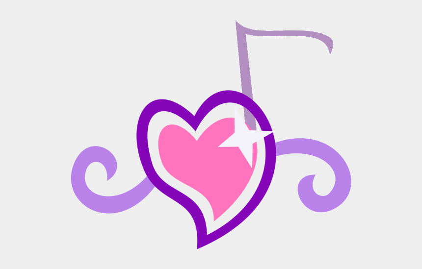 music notes heart clipart, Cartoons - Heart Shaped Notes Panda - Cutie Marks Sweetie Belle