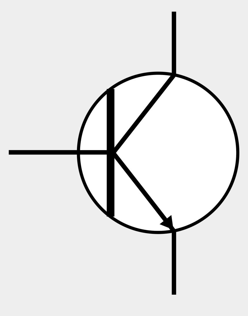 electrical clipart, Cartoons - Circuit Diagram Legend - Transistor Clip Art