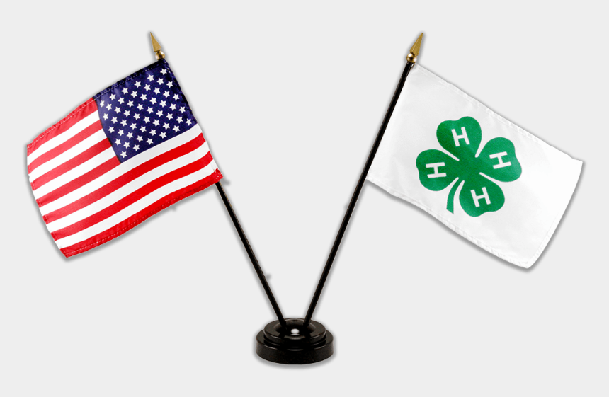 4h clover clipart, Cartoons - Single Base Flag Set - Us And Germany Flags