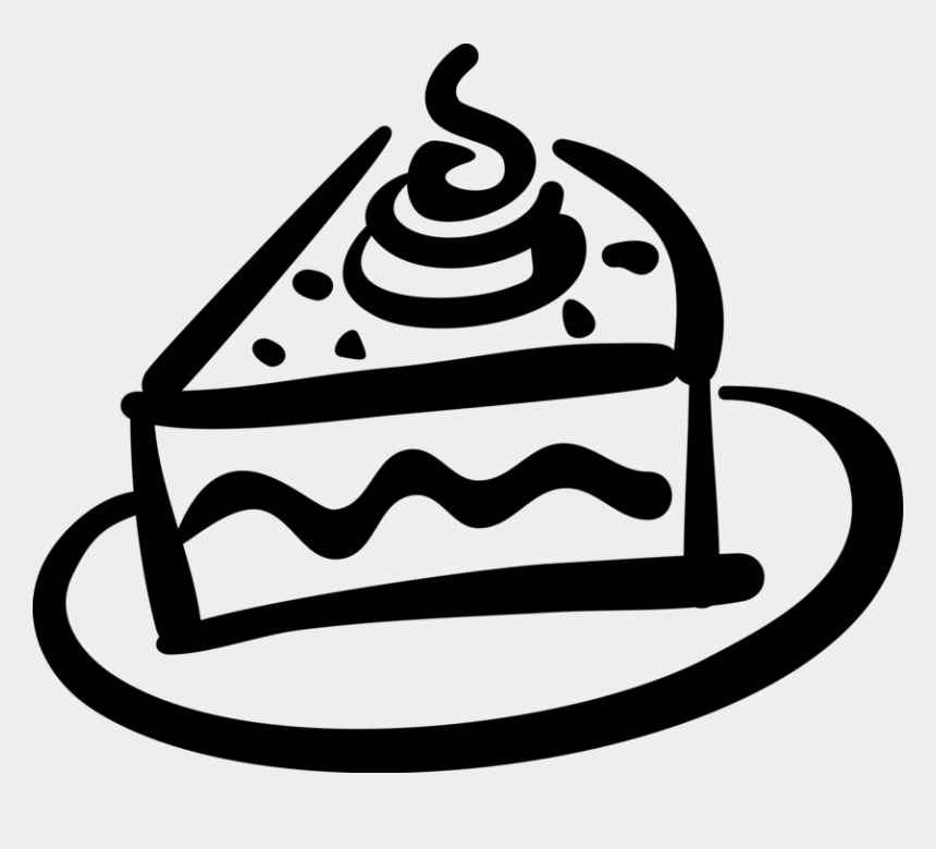Cake Clipart Black And White - 43 cliparts  |Cake Slice Clipart Black And White