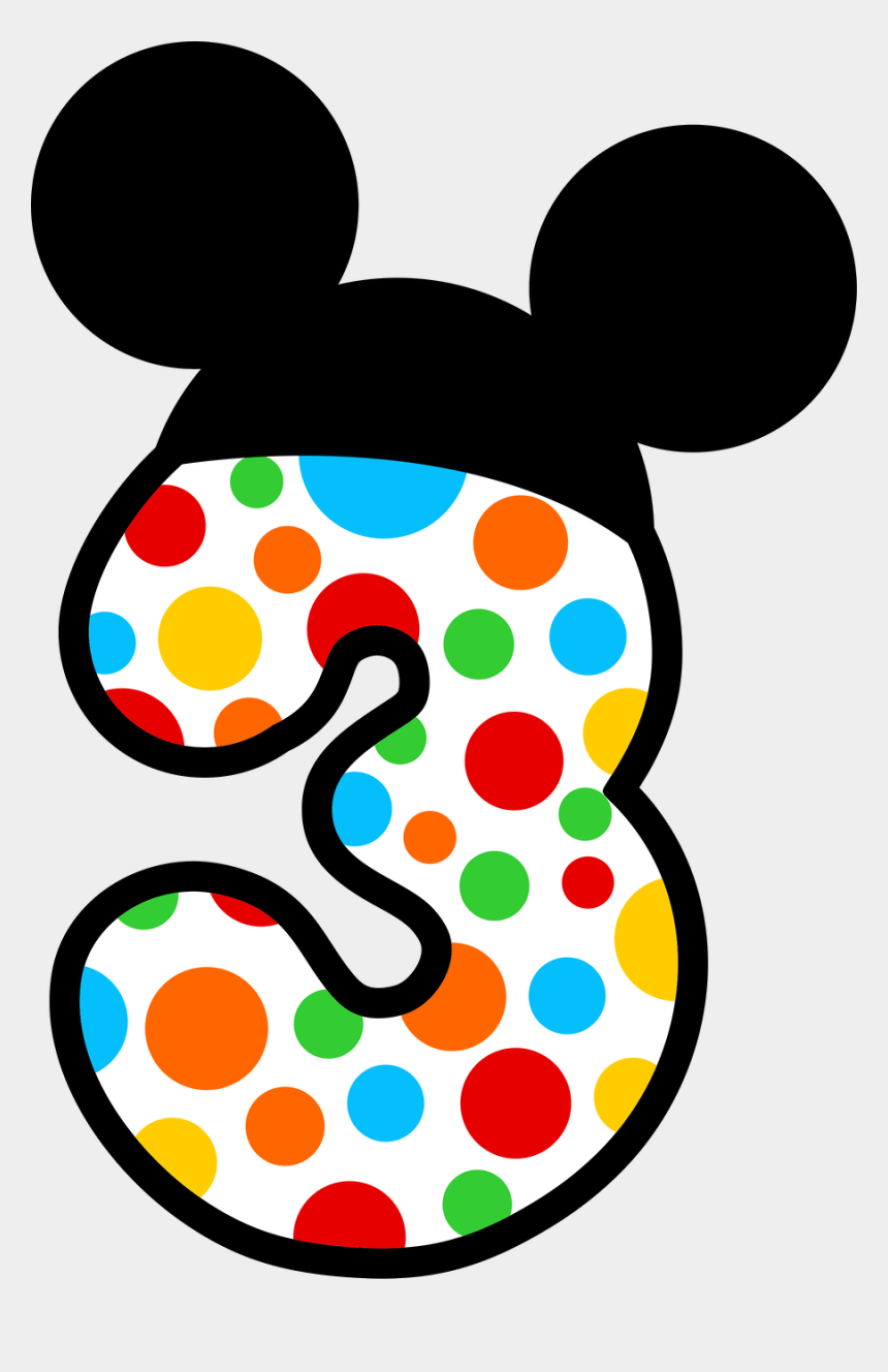 mickey mouse number 1 clipart, Cartoons - Mickey E Minnie - Numero 3 Mickey Mouse