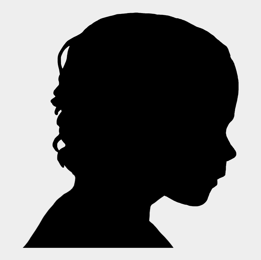 profile clipart, Cartoons - Face Silhouettes Of Men, Women And Children - Human Head Silhouette