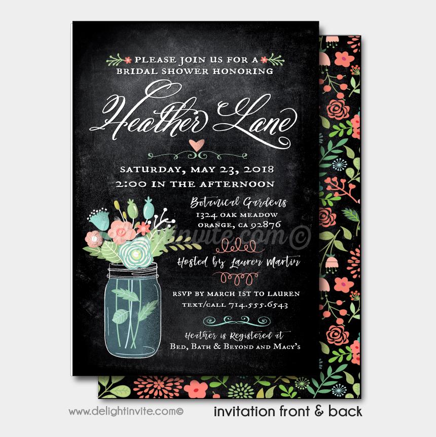 mason jar wedding clipart, Cartoons - Vintage Botanical Mason Jar Bridal Shower Invitations - Garden Roses