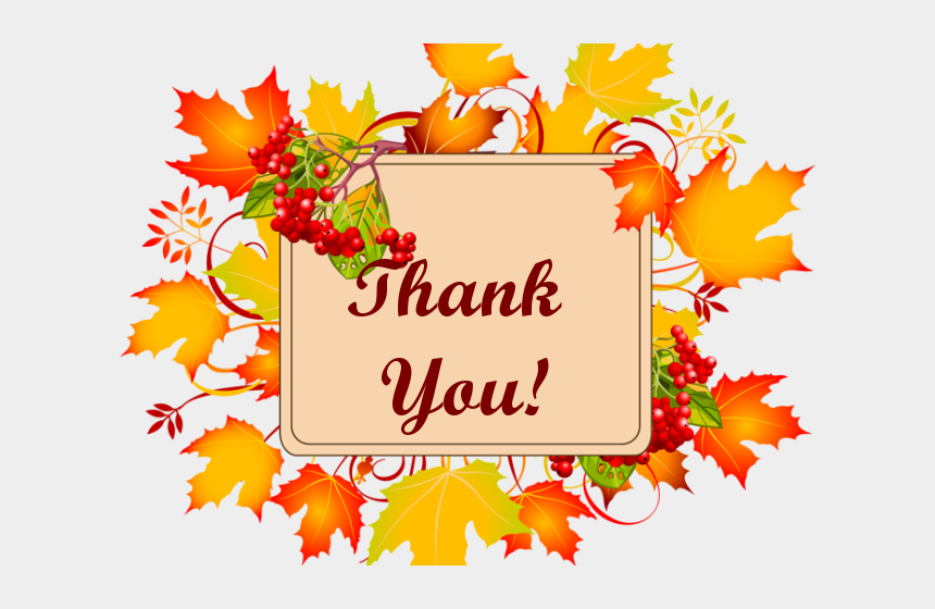 free thank you clipart, Cartoons - Thank You Clipart Autumn - September Birthday Clipart