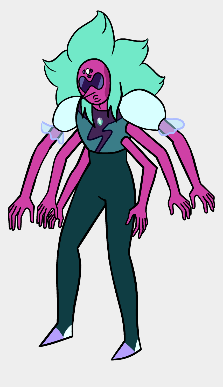 80's clipart, Cartoons - All The Crystal Gems Fused - Alexandrite Steven Universe