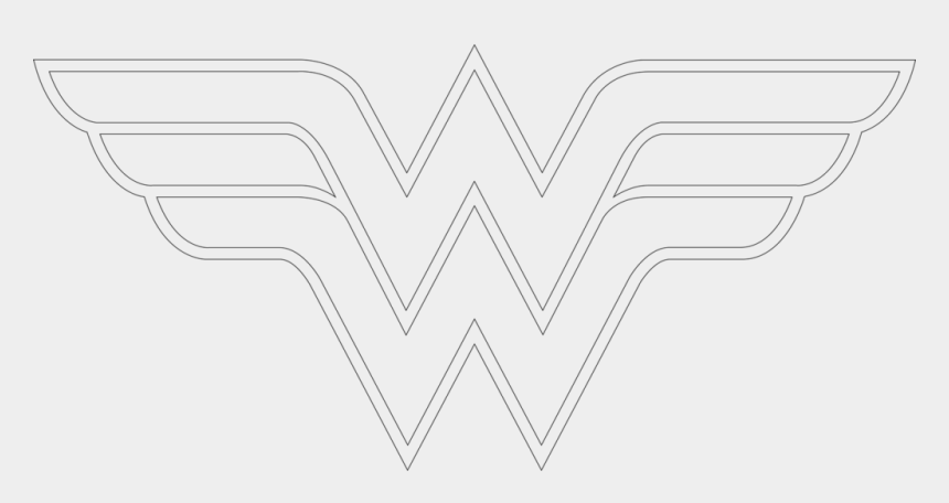 wonder women clipart, Cartoons - How To Draw Wonder Woman Logo Outline Artsy Wonder - Line Art