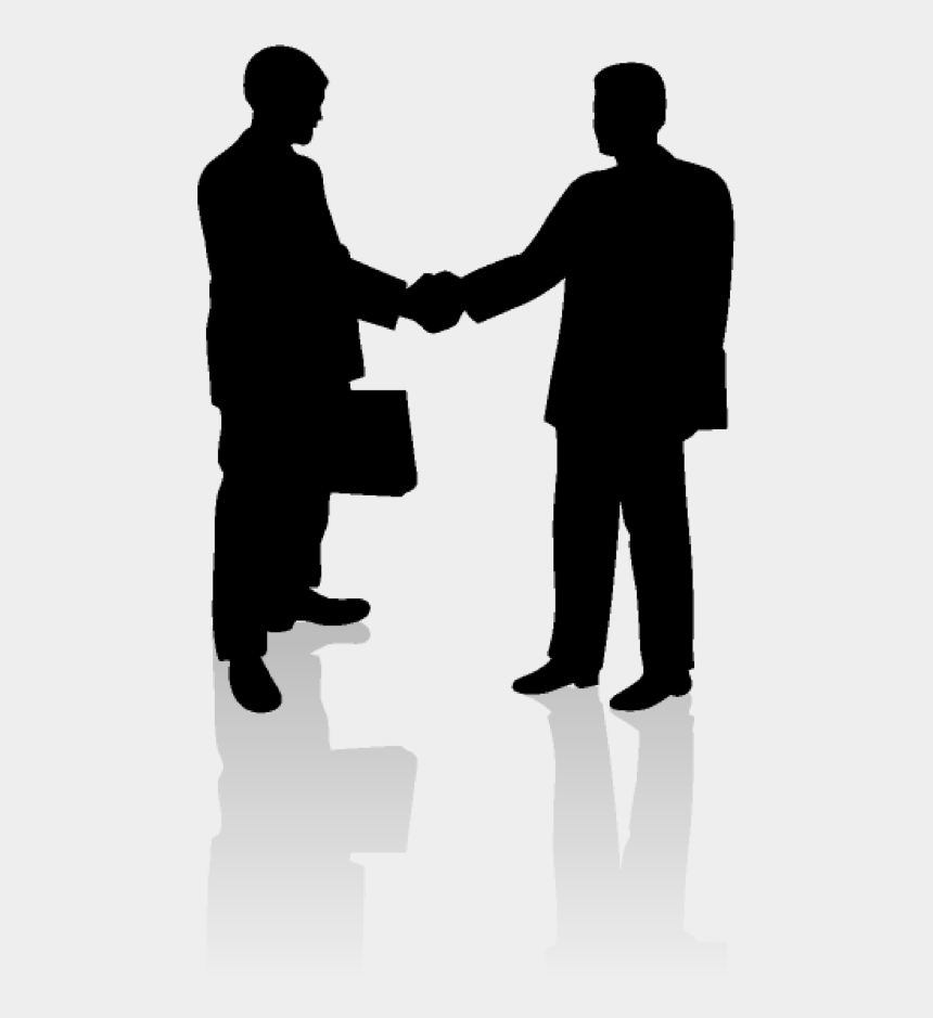 negotiation clipart, Cartoons - First - 2 People Hand Shake