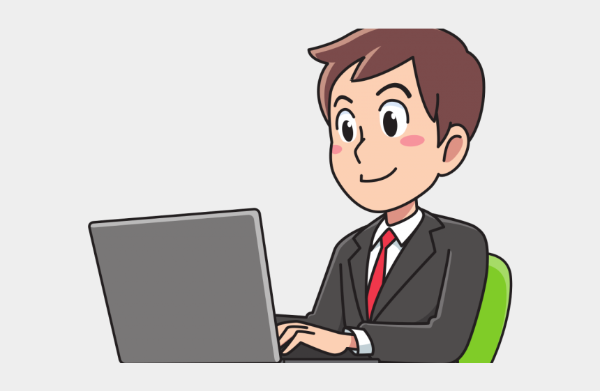 bookkeeping clipart, Cartoons - Secretary Clipart Bookkeeper - Man And Computer Icon