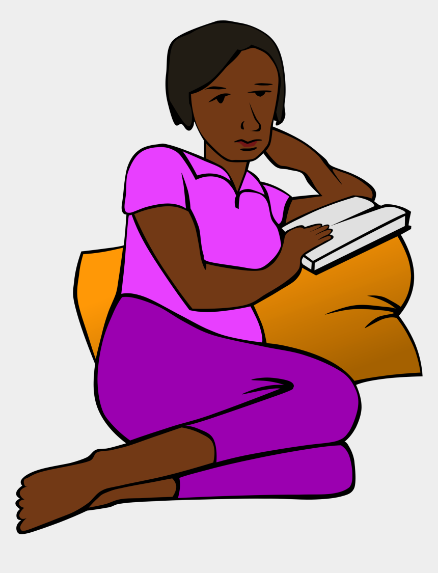short person clipart, Cartoons - Person Reading A Book Clipart - Person Reading A Book Sitting Clipart