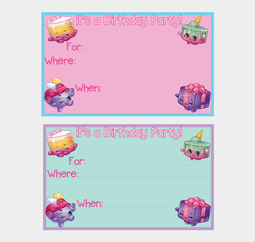 image about Free Printable Shopkins Invitations identified as Clic Shopkins Birthday Get together - Shopkins Birthday