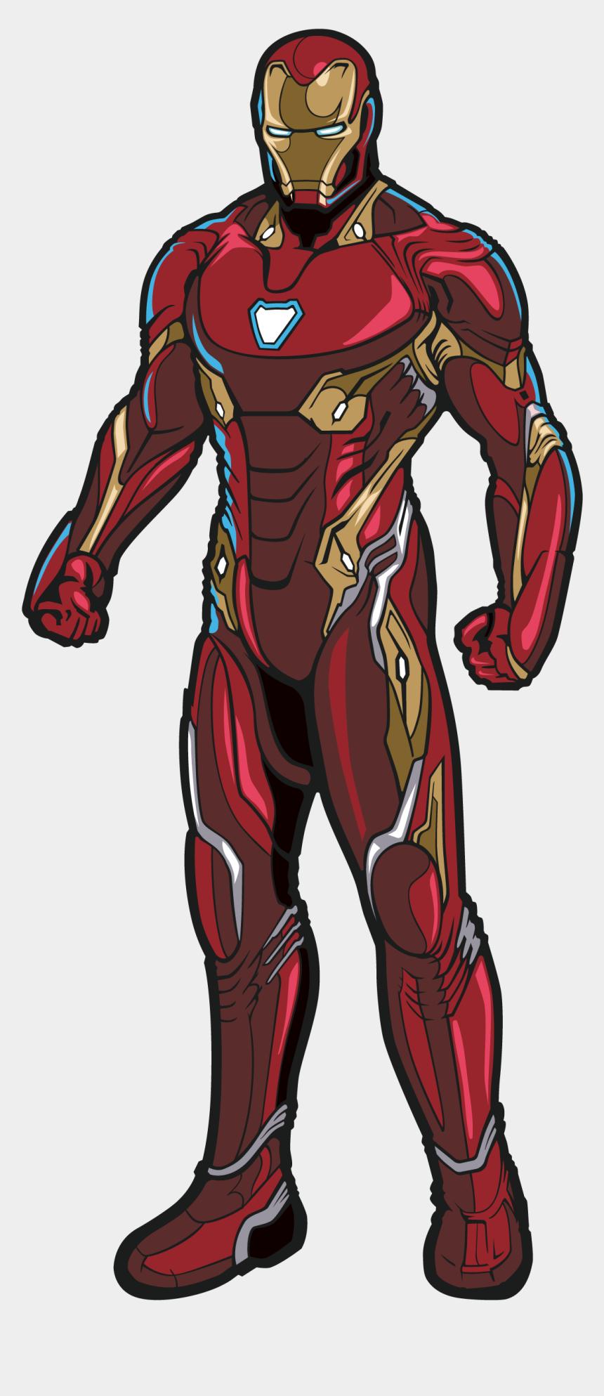 iron man clipart black and white, Cartoons - Iron Man - Iron Man Avengers Infinity War Figpin