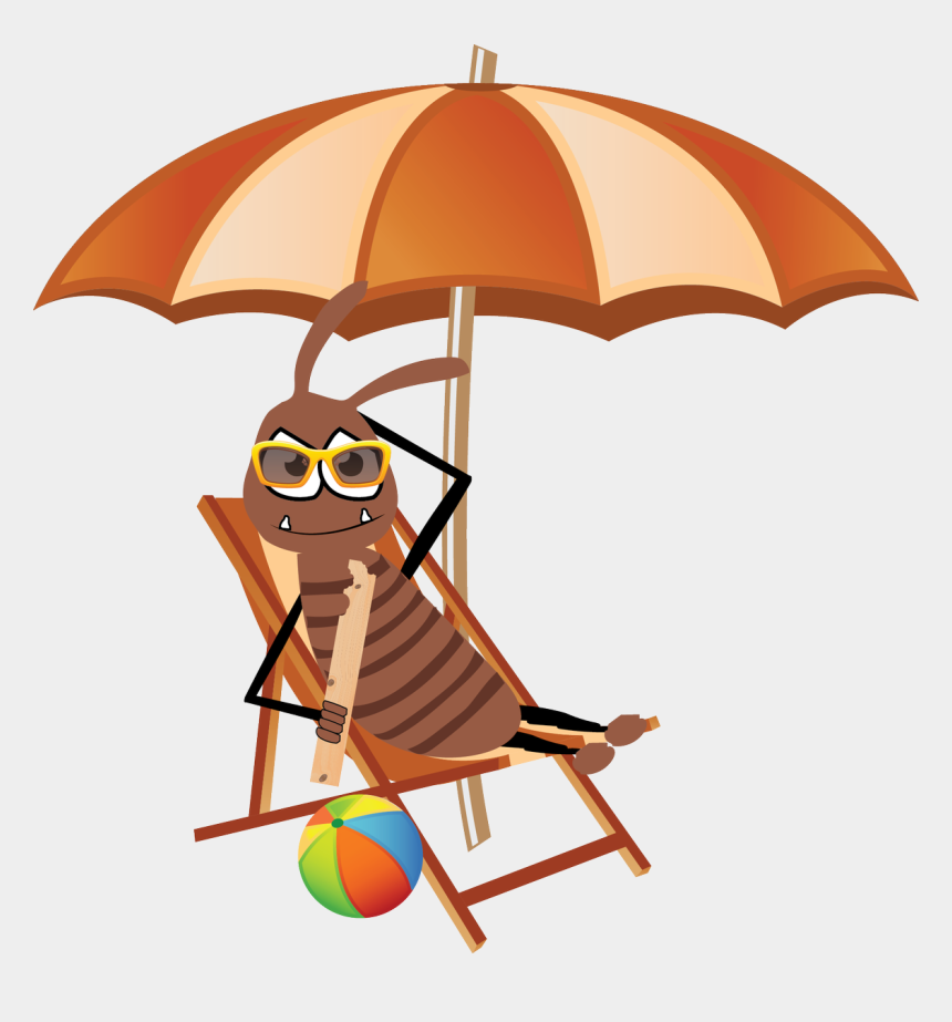 first day of summer clipart, Cartoons - Tomorrow Is The First Day Of Summer Which Means The - Umbrella With Chair Clipart