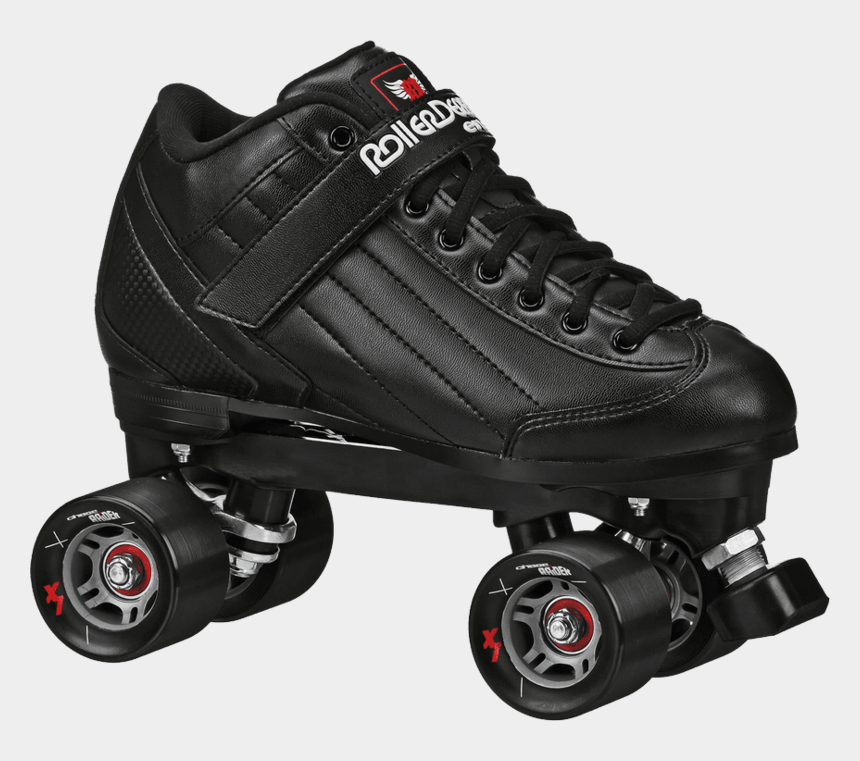 roller skates clipart black and white, Cartoons - Roller Skates - Roller Derby Skates